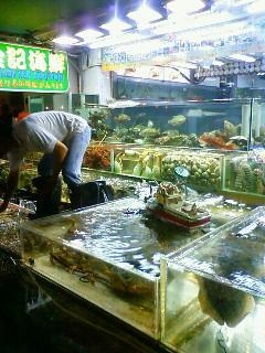 海鮮レストランへ